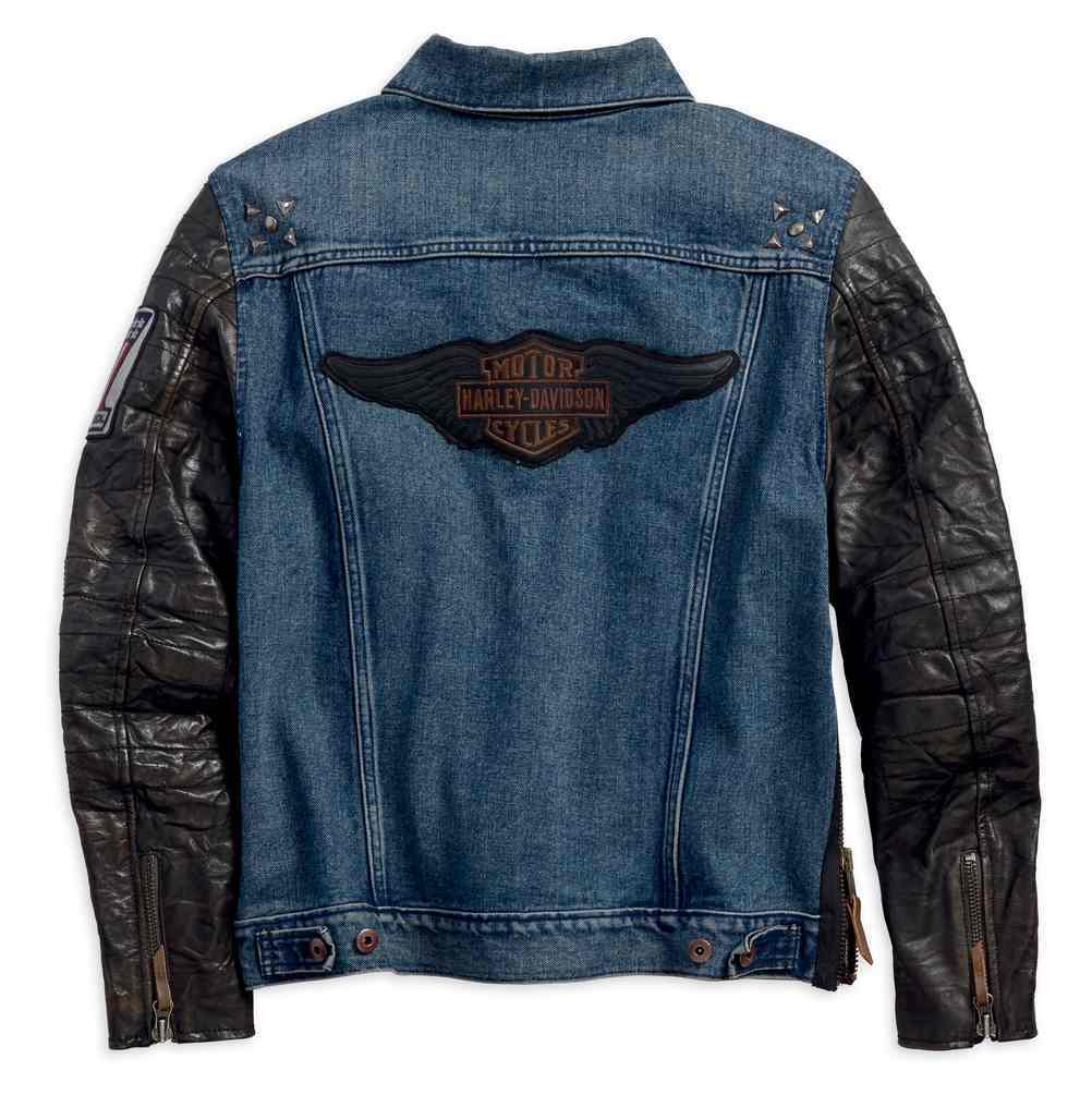 timeless design 29ff9 24304 Giacca Uomo Denim Black Harley Davidson