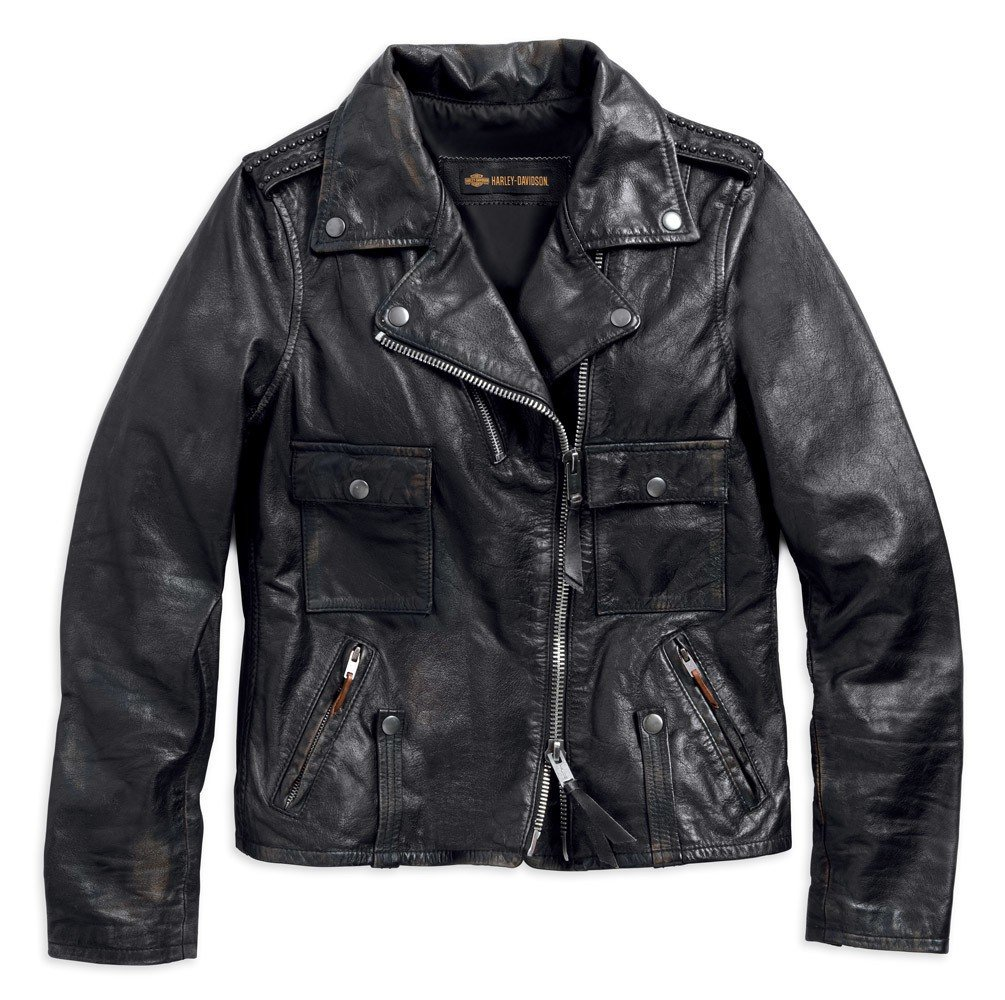 meet ad803 89a18 Giacca donna pelle chiodo harley davidson