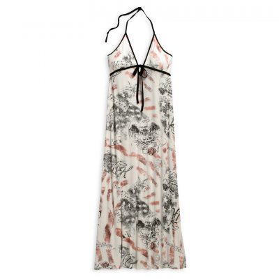 Allover Print Halter Maxi Dress 96307 16VW 1