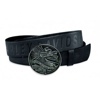 live to ride buckle leather belt