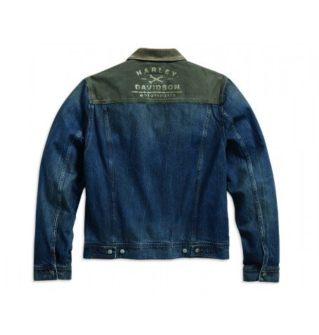corduroy accent denim trucker jacket 1