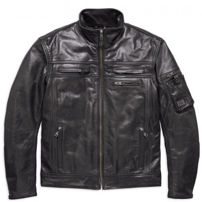 authority water resistant leather riding jacket 97197 18em