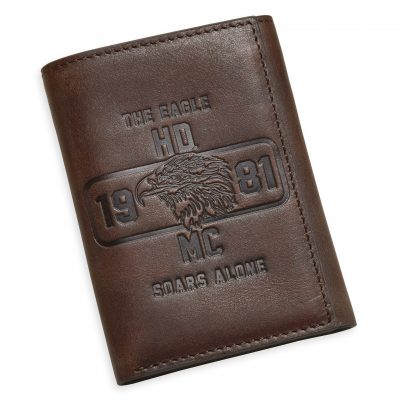 THE EAGLE SOARS ALONE TRI FOLD WALLET 97780 17VM