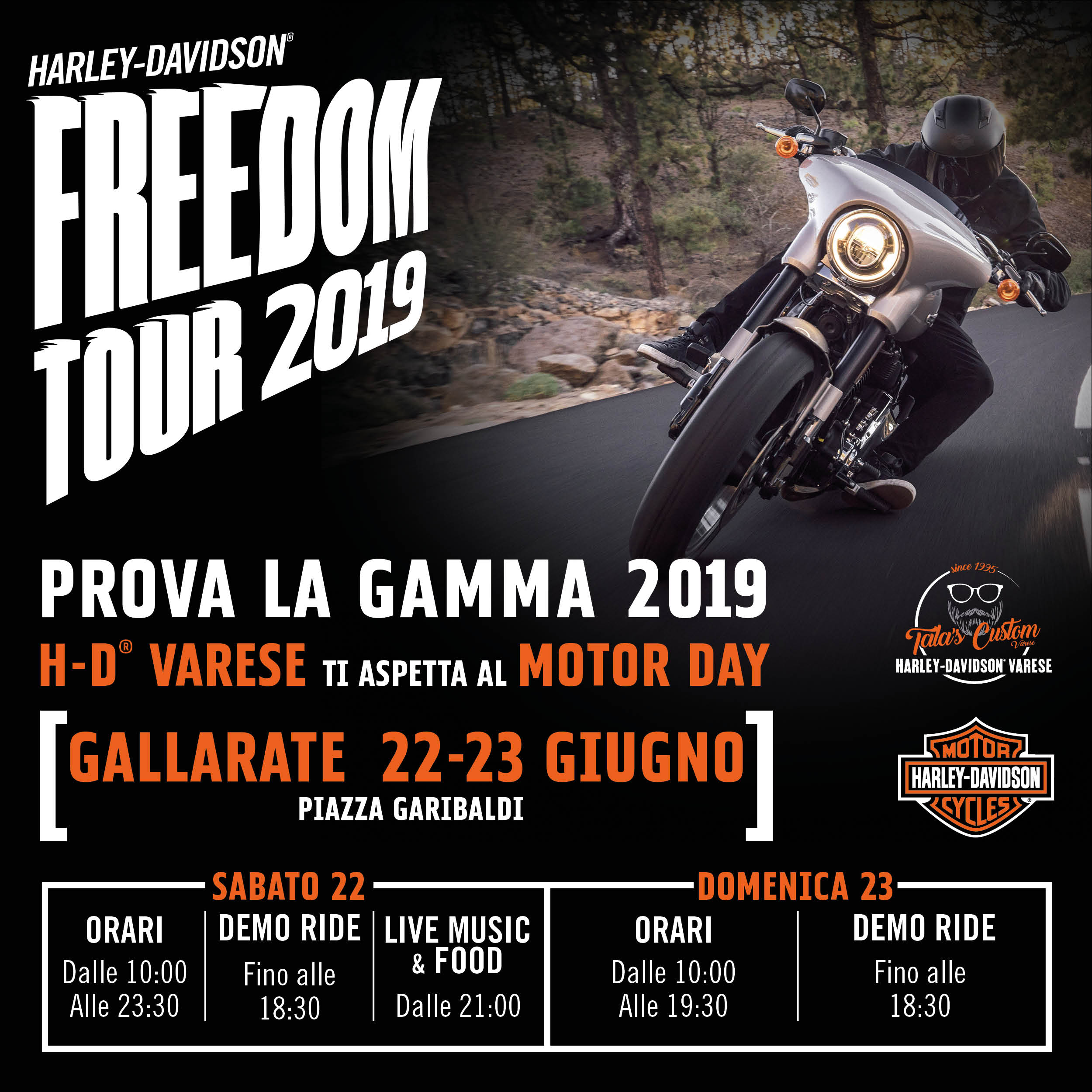 H DVarese FreedomTour 2019 post ig