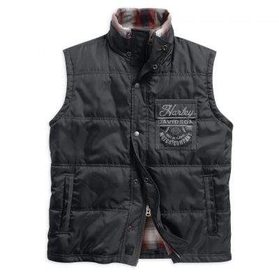 QUILTED VEST WITH PLAID LINING 97585 16VM